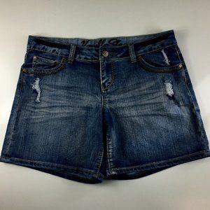 Vanilla Star Womens Denim Blue Jean Shorts Size 15